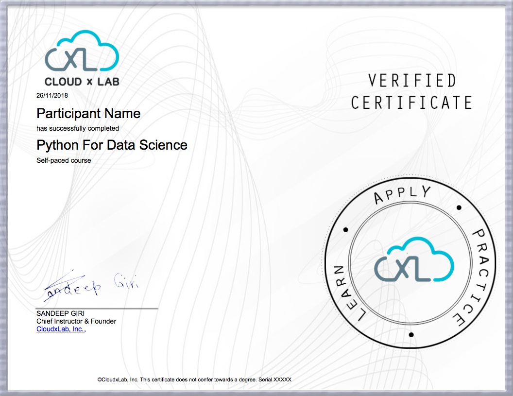 Free Course on Python for Data Science (with exclusive lab