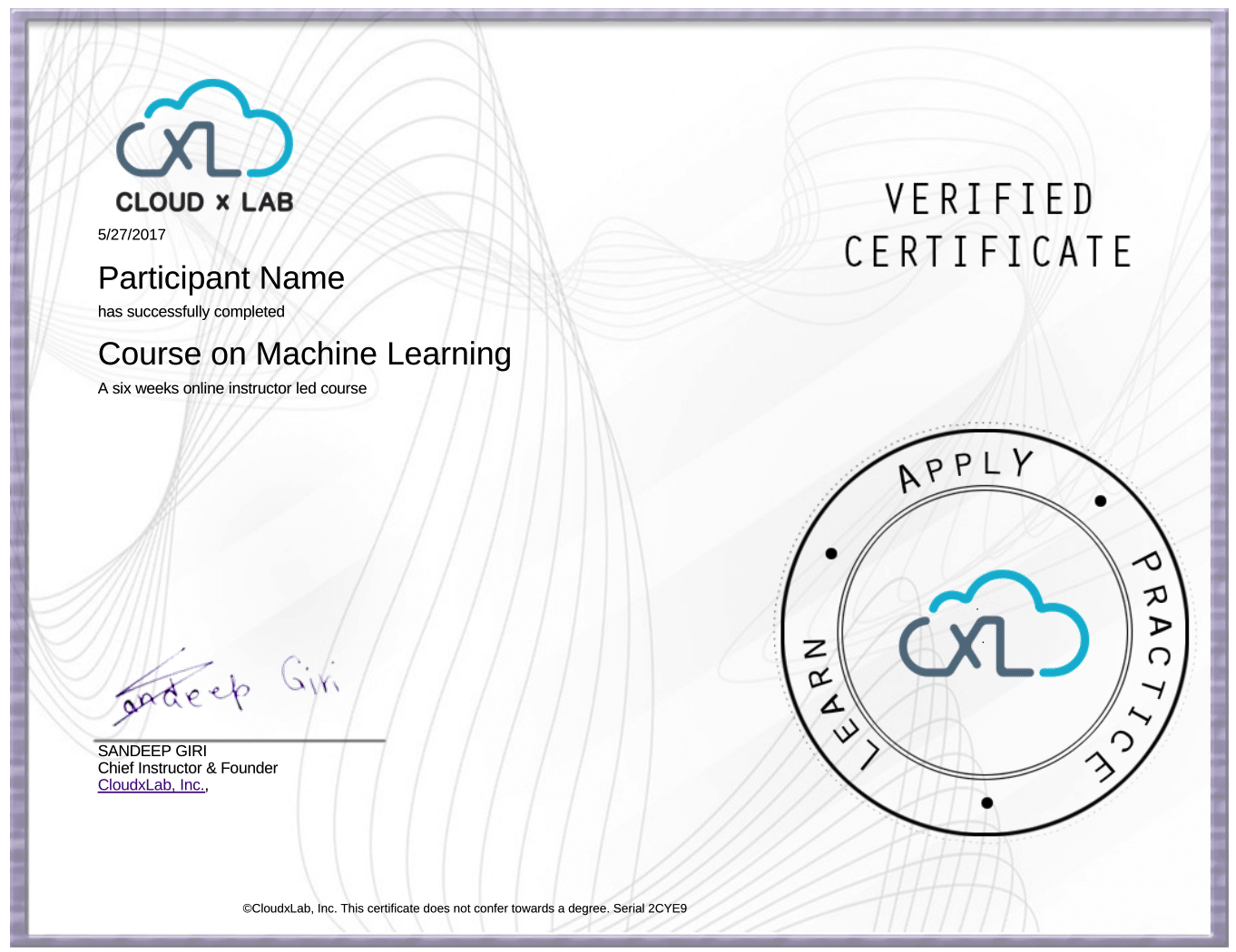 Machine Learning Certification - Online Course | CloudxLab